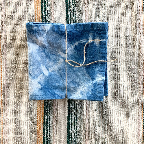 Hand-Dyed Indigo Cloth Napkins by Folly James Happy Campers