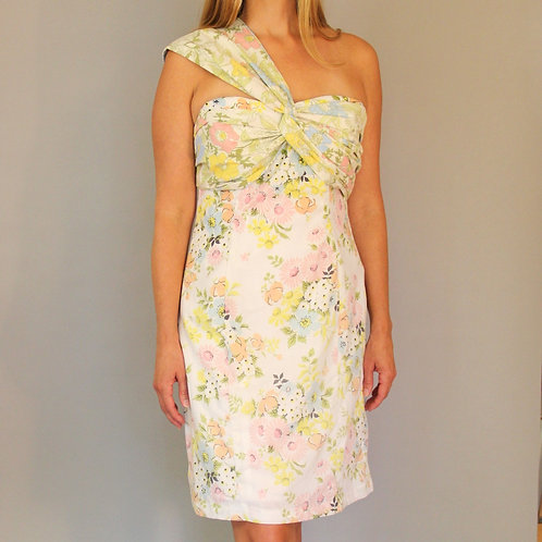 "Vintage Floral Fabric ""Same"" Dress by Maude Couture"