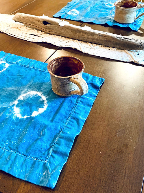 Hand-Dyed Indigo Placemats by Folly James Happy Campers