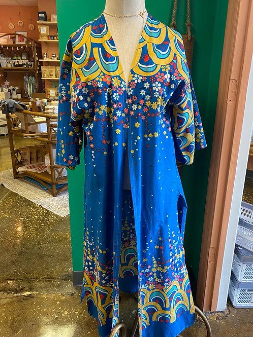 Blue Flower Power Kimono by Dot + Maude