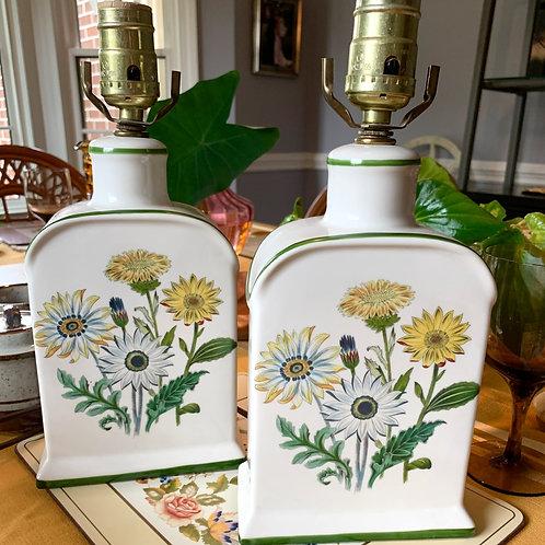 Vintage Daisy Lamp Set