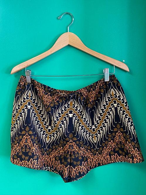 Black Patterned Shorts by Dot + Maude