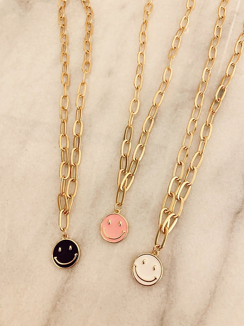 Smile Big Paperclip Necklace  by Julia Grace Jewelry