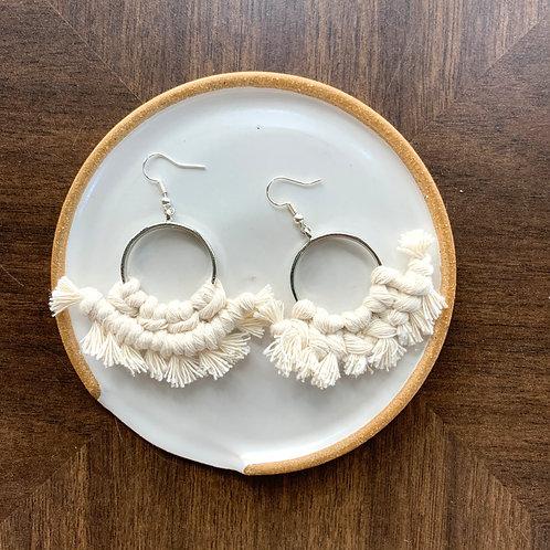 Macrame Silver Earrings by Rosie The Wanderer