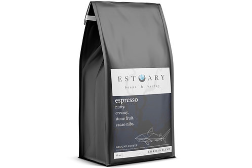 Espresso Blend Grind Coffee by Estuary Beans and Barley