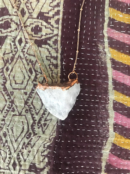 Rose Quartz Crystal Pendant by Transient Co.