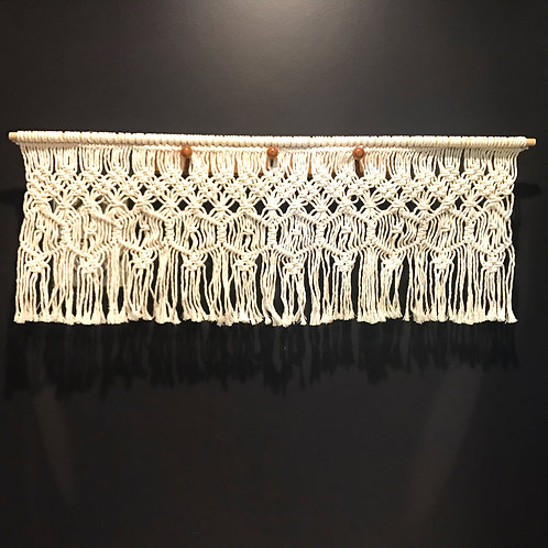 Macrame Window Valance by Rosie The Wanderer