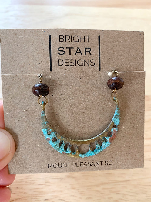 Patina Necklace by Bright Star Designs
