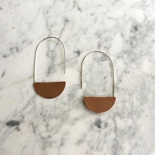 Copper Luna Earrings by Indigo Bee Co.