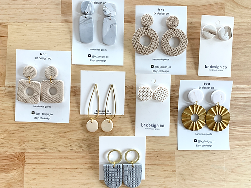 Tres Chic Clay Earring Collection by BR Design Co.