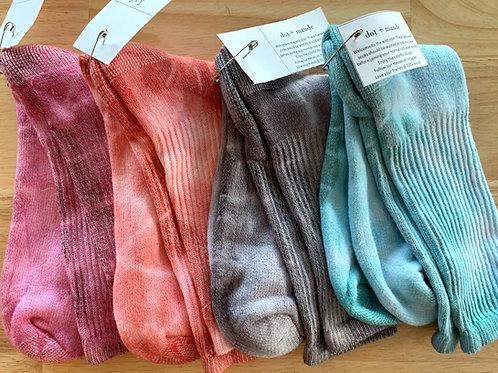 Hand-Dyed Skater Socks by Dot + Maude