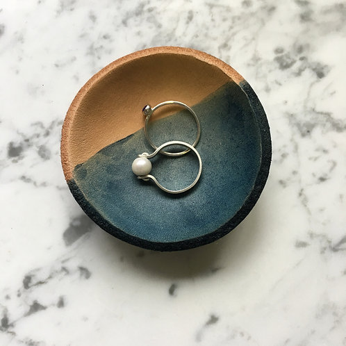 Leather Ring Bowl by Indigo Bee Co.