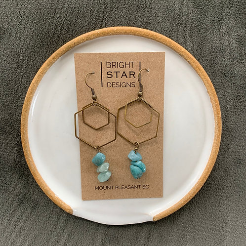 Patina Dangle Earrings by Bright Star Designs