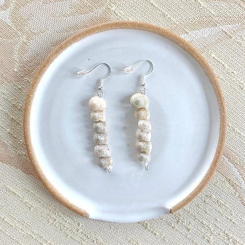 Shell Earrings by Dot + Maude