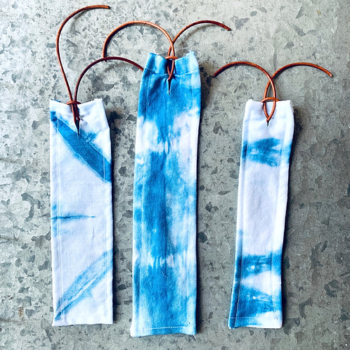 Indigo Dyed Fabric Bookmark by Folly James Happy Campers