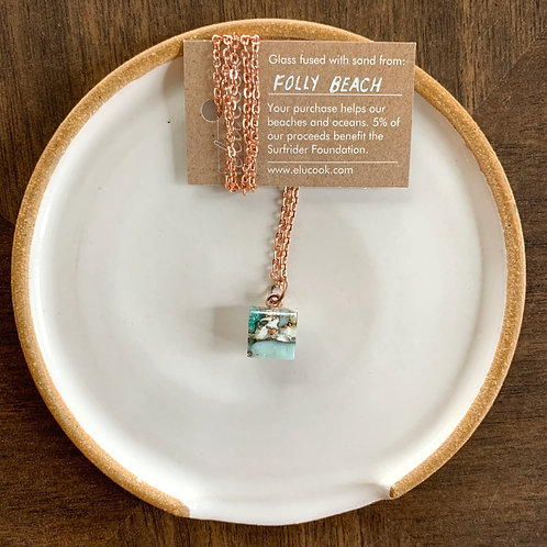 Folly Beach Mini Glass Necklace by eluCook Designs