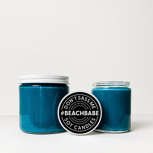 Beach Babe Soy Candle by Don't Sass Me Soy
