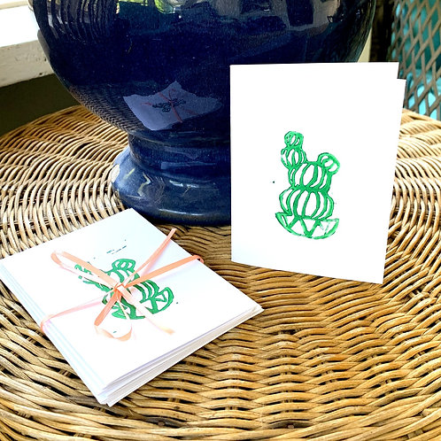 Hand-Stamped Notecard (Set of Five) by KLH Designs
