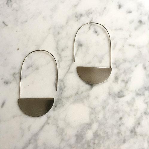 Silver Luna Earrings by Indigo Bee Co.