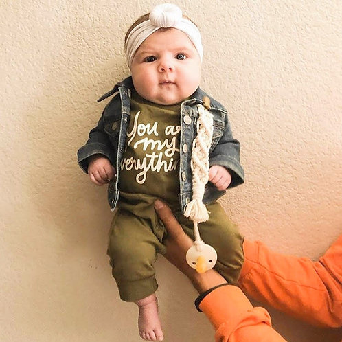 Macrame Pacifier Clip by Rosie The Wanderer
