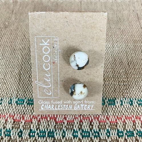 Glass Stud Earrings by eluCook Designs