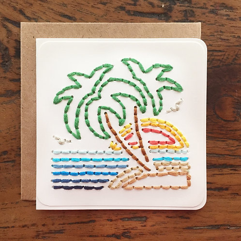 Sunset Palms Mini Card by The Cole Card Company