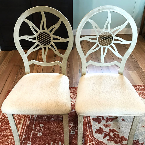 Vintage Sunburst Chair Pair