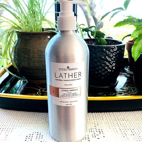 Lather Natural Hand and Body Wash by Steel Birch