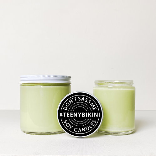 Teeny Bikini Soy Candle by Don't Sass Me Soy