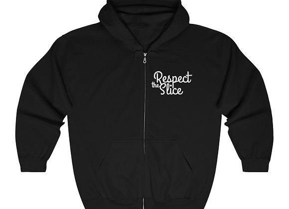 Respect The Slice Unisex Heavy Blend™ Full Zip Hooded Sweatshirt