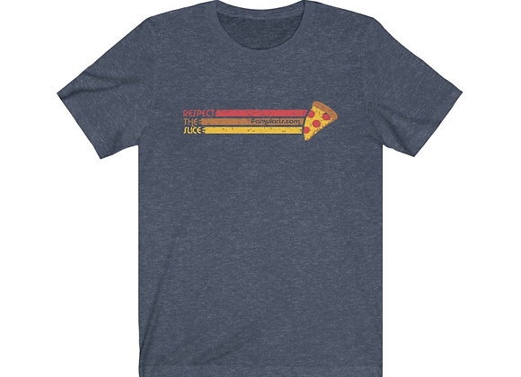 Respect The Slice Distressed Unisex Jersey Short Sleeve Tee