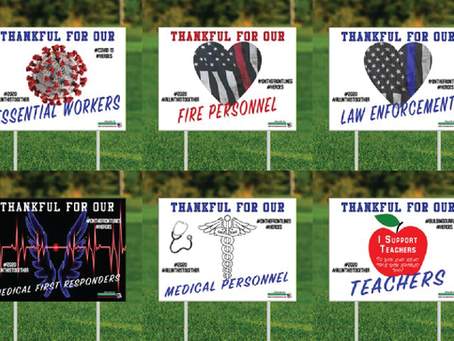 Community support lawn signs