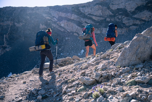 Hikers on the trail to Forester Pass