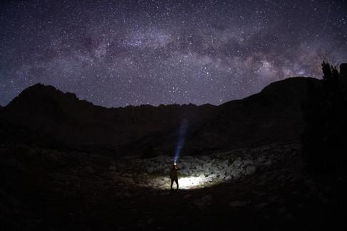 Milkey Way over the Sierra Navada