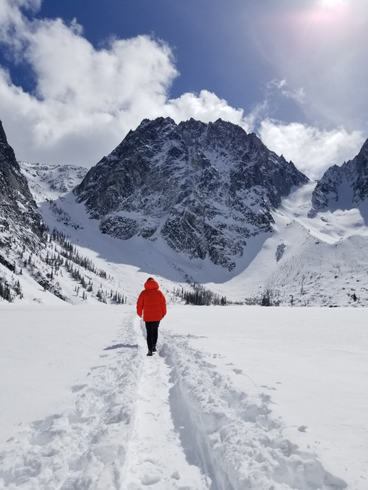 Dragontail Peak in winter. Enchantment W