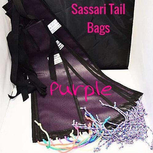 Sassari Tail Bag, Horse tail Sock, Horse Tail Bag PURPLE set x 1