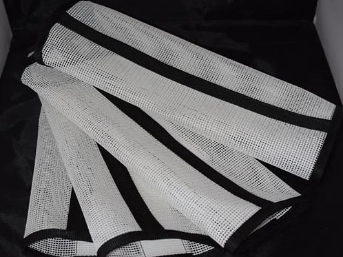 Fly Leggings,  Fetlock Wraps, Fly Wrap, Sassari Leggings set of 4 White