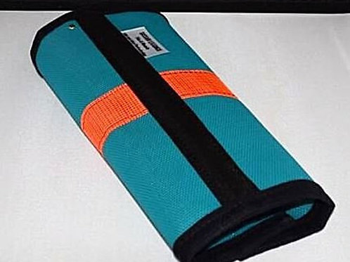 Wound protection, Fly Wraps, Sassari Golden Glow 90%. SET X 4 Teal/Bright Orange