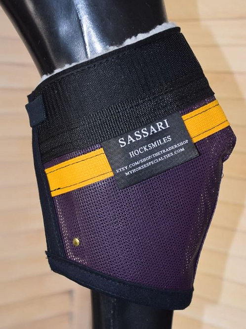Hock Wound Protection, Sassari Hock Fly Protection, Color Purple