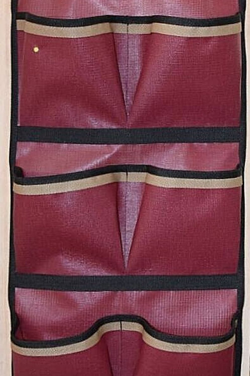 Pocket Wall Door hanging Storage Organizer Burgundy