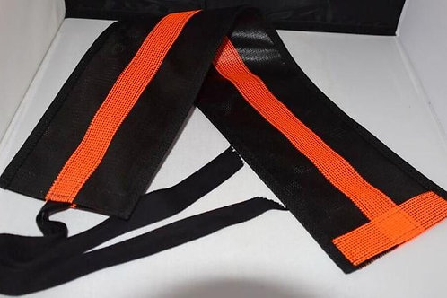 Orange Tail Bags, Bright Orange on Black (see orange fly leggings)