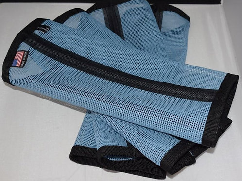 "Fly Leggings ""Sassari"" Set of 4 Smoke Light Blue, Fly Wraps, Soft Blue"