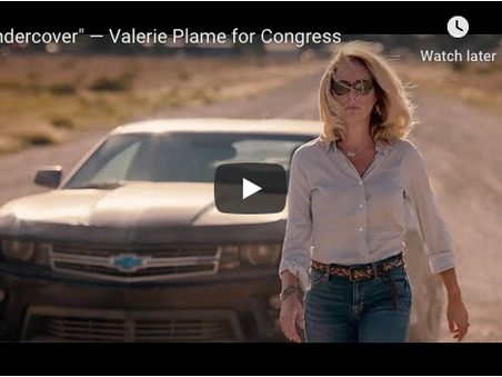 Outed CIA Agent, Valerie Plame is running for Congress; launch video looks like a spy movie trailer
