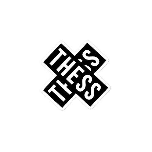 Thess X Black stickers