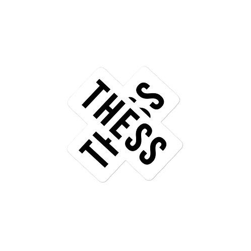 Thess X White stickers