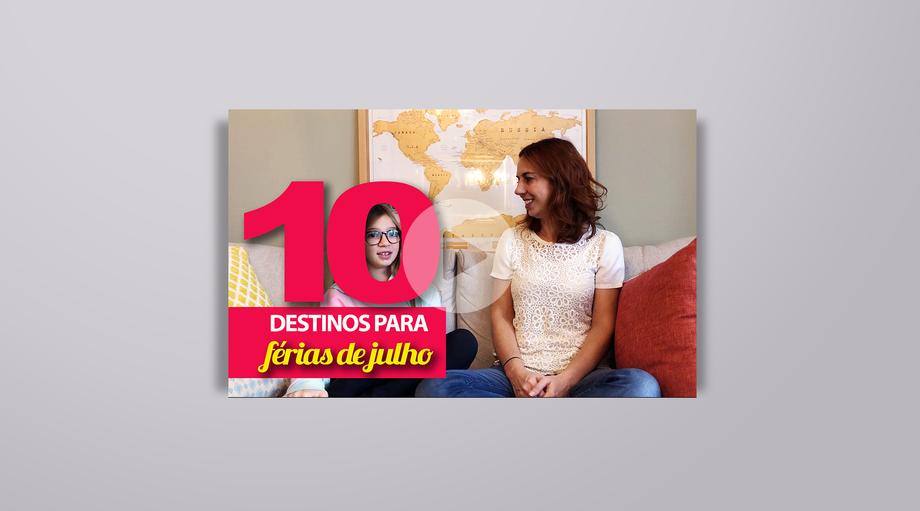 Vídeo 10 destinos no Brasil