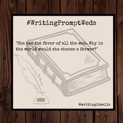 #WritingPromptWeds(1)