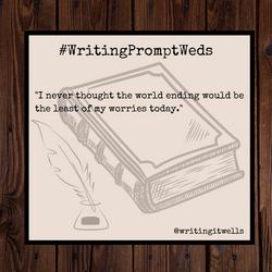 #WritingPromptWeds