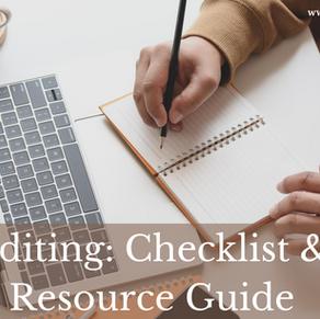 Editing: Checklist & Resource Guide