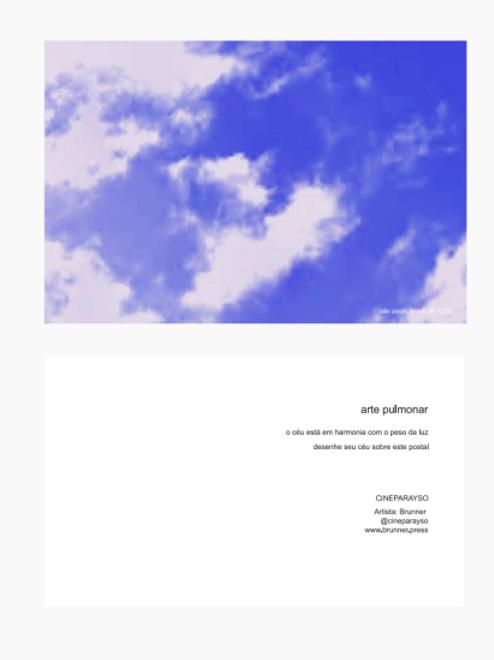 Postcard Cineparayso (Arte Pulmonar)